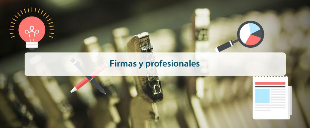Firmas y profesionales